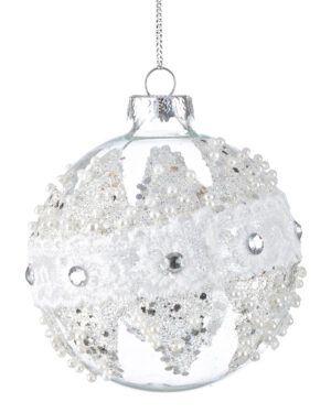 Bola de Cristal con incrustaciones en cristal y plata