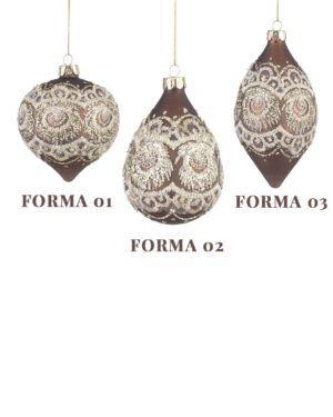 Bolas de Cristal de Murano Chocolate