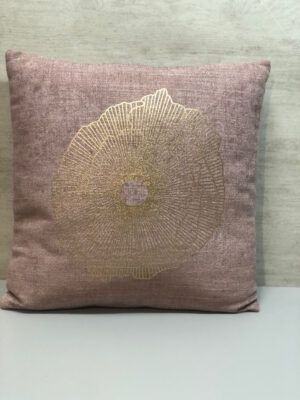 Cojin tela de saco rosa mide