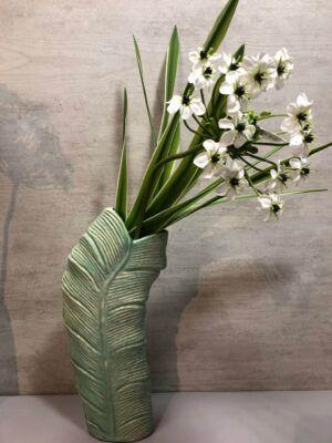 Jarron con flores 60x12
