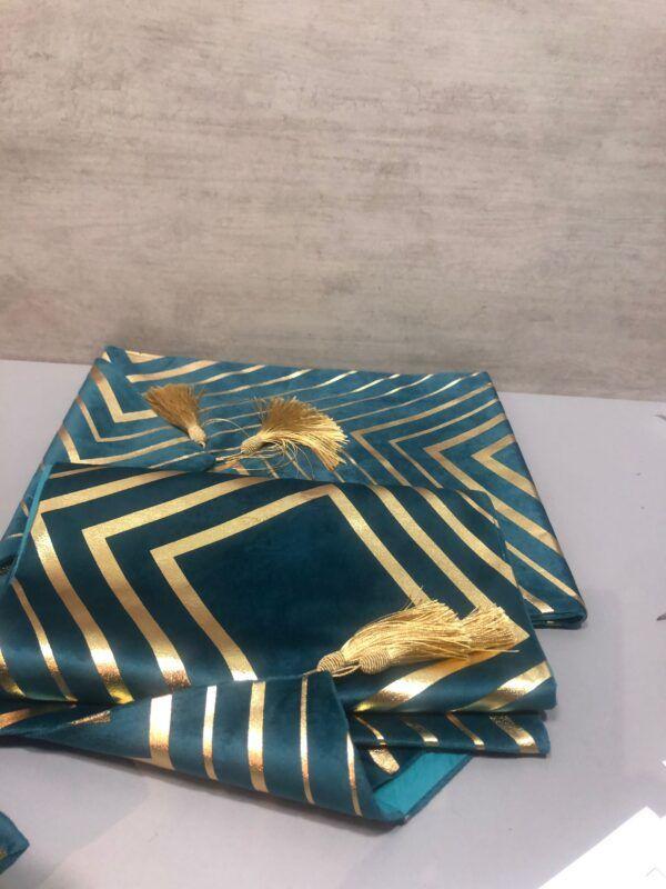 Camino abstracto azul-oro 30x50