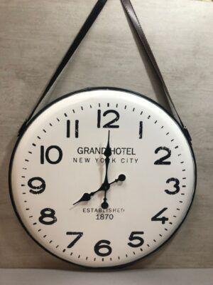 Reloj metálico con asas 65cm