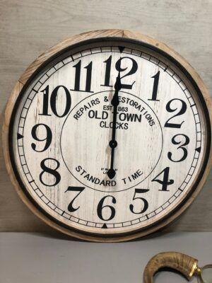 Reloj de madera natural 60cm